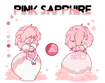 Gem Adopt / Pink Sapphire (closed) by TrustyArts