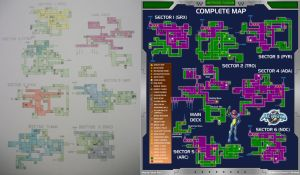 Metroid Fusion map closeup Sector 1 SRX by YoshiFan37 on