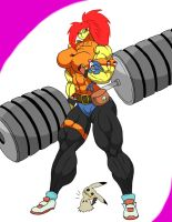 Litteral Gym Leader Jessica colour by mud666
