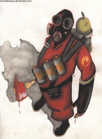 Pyro Watercolour by TheDovahBrine