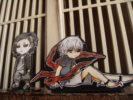 kaneki and Uta CHIBIS by AldhaRoku