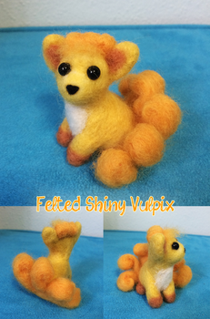 Needle Felted Shiny Vulpix by DeadPants