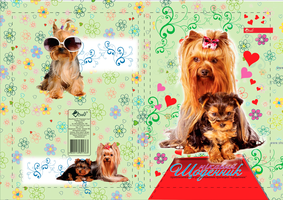 Green diary with dogs by leila1605
