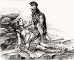 Achilles and Penthesilea by johnnugroho