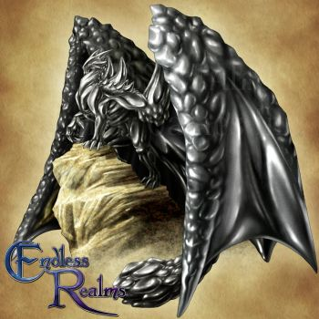 Endless Realms bestiary - Hematite Dragon by jocarra