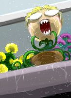 Anderplant in the Rain by Octomantis
