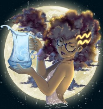 Aquarius - Horoscope w/ Glasses by lDestiny