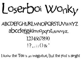 loserboi wonky font by 8hashbrowns