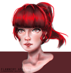 Bangs [STUDY] by flannorange