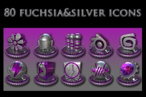 fuchsia and silver collection by xylomon