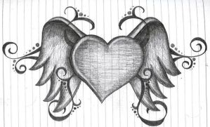 heart with wings by amanda11404
