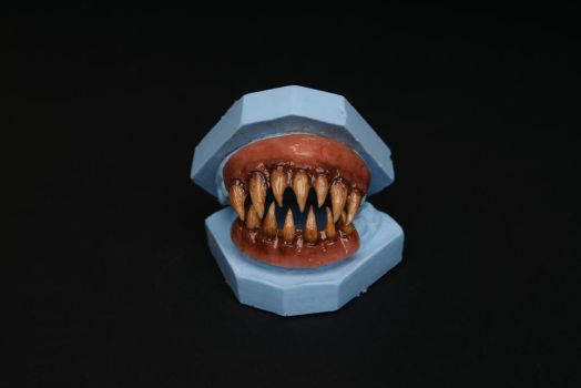 Custom sculpted and painted teeth by KRSkreations