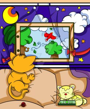 Cat TV by bchan