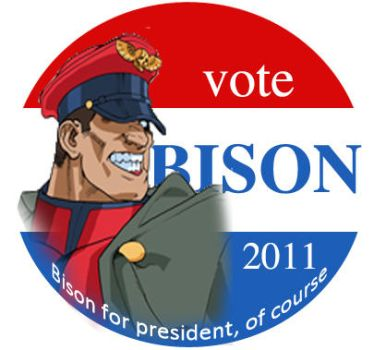 Bison for president by Shadaloo1989