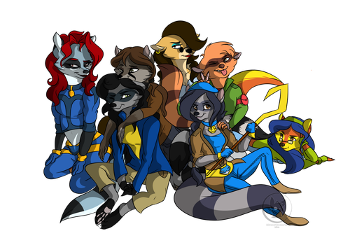 Commission for Claire-Cooper (Multiple Characters) by RhinestoneArts