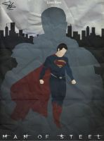 Man of Steel Retro Poster by LTRees