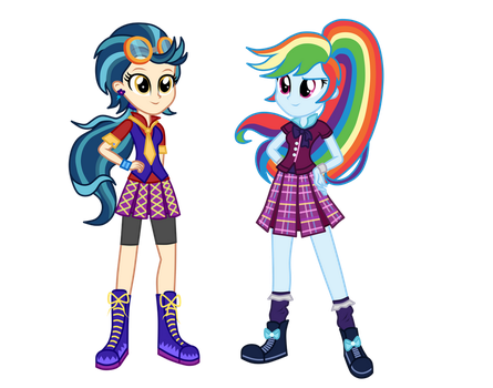 Wondercolt Indigo Zap and Shadowbolt Rainbow Dash  by MixiePie