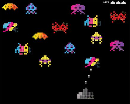 space invader wall by pako0007