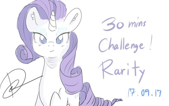 30 minutes challenge (again) : Rarity. by PeriodicBrony