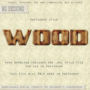 PS Style: WOOD by HGGraphicDesigns