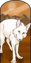 White Wolf Bookmark by MauserGirl