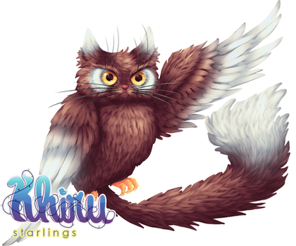 Khiru Starlings : Meowl by scorching-princess