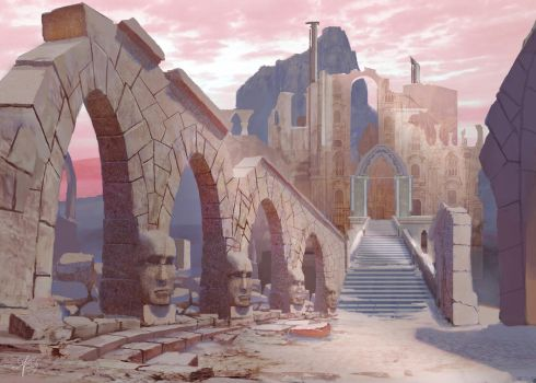 Chronicles of Atheria 'Kalenda Ruins' Commission 4 by jjpeabody