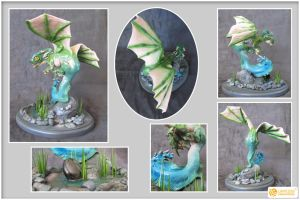 Water Dragon Hatchling by LimitlessEndeavours