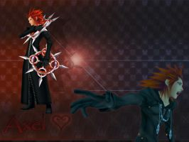 kingdom hearts Axel by LumenArtist