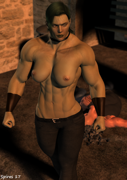 Enyo: My Turn-Shirtless by spiresrich