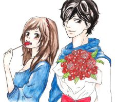 Kou and Futaba from Ao Haru Ride by SpringSnowflakes