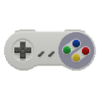 Snes Controller in the Pixels (alternate colors) by gfball84887