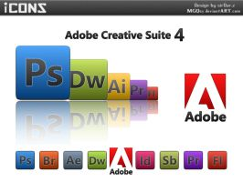 Adobe Creative Suite 4 icons by MGQsy