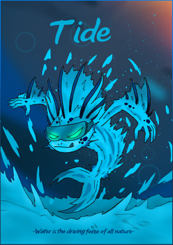OC release: Tide, the Watery Equine by BlueTide1410