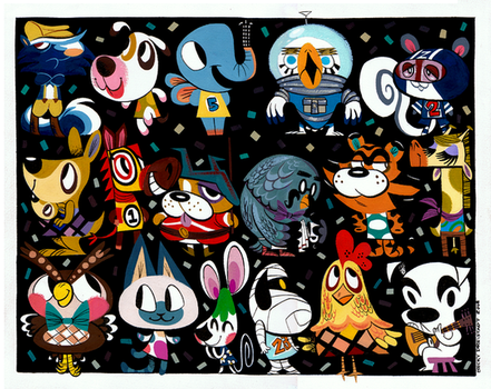 Animalcrossing explore animalcrossing on deviantart for Animal crossing mural
