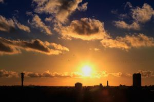Sunset at Curitiba by klapouch