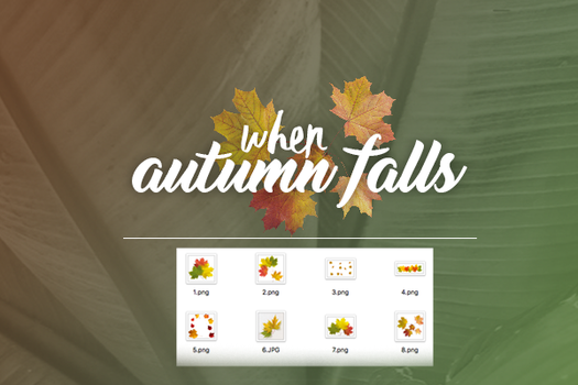 when autumn falls | pack png. by AlejandraArely