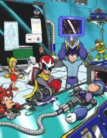 Ex UDON megaman tribute by FcoSintor