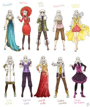 Various female clothes 8 by meago