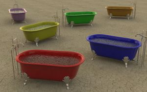 Field of Tubs by BarberofCivil