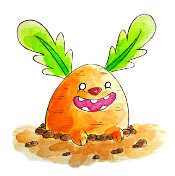 Monster of the Day #1273 Carrot Bunny Monster! by jurries21
