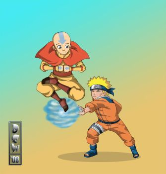 Naruto vs Avatar by free-energy03
