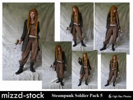 Steampunk Soldier Pack 5 by mizzd-stock