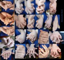 Hand Pose - Holding Hands 1 by Melyssah6-Stock