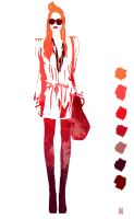 Streetwear style - Coral Red Palm by Marsha-Veliguro