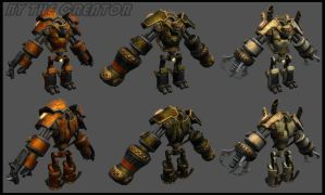 Steam robot lowpoly by overmind81