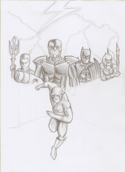 Flashpoint Cover Pencil recreation by Kurt-dstryr