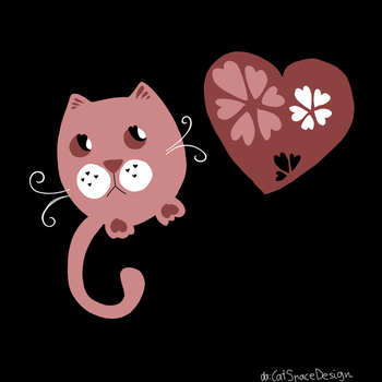Pink Cat by CatSpaceDesign