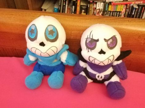 undertale plush underswap and swapfell  by Melle-d