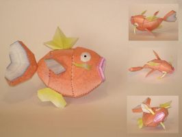 Magicarp Doll Papercraft by Skele-kitty